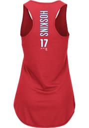 Rhys Hoskins Majestic Philadelphia Phillies Womens Red Racerback Player Tank Top
