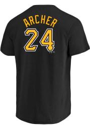 Chris Archer Pittsburgh Pirates Black Name Number Short Sleeve Player T Shirt