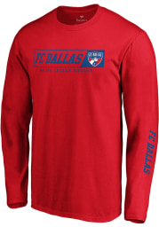 FC Dallas Red Chase Down Long Sleeve T Shirt