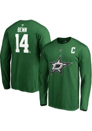 Jamie Benn Dallas Stars Green Name Number Long Sleeve Player T Shirt