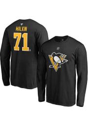 Evgeni Malkin Pittsburgh Penguins Black Name Number Long Sleeve Player T Shirt