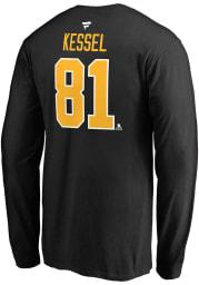Phil Kessel Pittsburgh Penguins Black Name Number Long Sleeve Player T Shirt