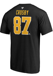 Sidney Crosby Pittsburgh Penguins Black Name And Number Short Sleeve Player T Shirt