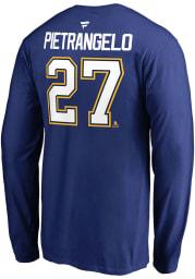Alex Pietrangelo St Louis Blues Blue Name Number Long Sleeve Player T Shirt