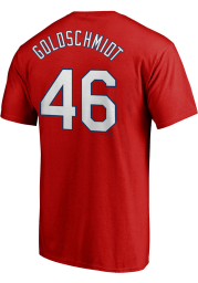 Paul Goldschmidt St Louis Cardinals Red Name and Number Short Sleeve Player T Shirt