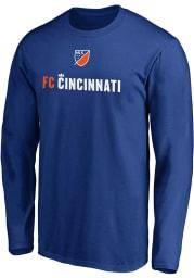 FC Cincinnati Blue Shielded Long Sleeve T Shirt