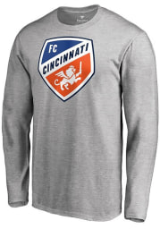 FC Cincinnati Grey Primary Logo Long Sleeve T Shirt