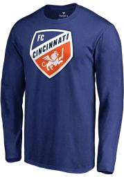 FC Cincinnati Blue Primary Logo Long Sleeve T Shirt