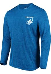 FC Cincinnati Blue Logo Wordmark Long Sleeve T-Shirt