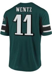 Carson Wentz Philadelphia Eagles Midnight Green Hashmark Short Sleeve Player T Shirt