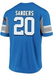 Barry Sanders Detroit Lions Blue Hashmark HOF Short Sleeve Player T Shirt
