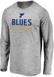 St Louis Blues Grey Engage Stack Long Sleeve T-Shirt