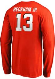 Odell Beckham Jr Cleveland Browns Orange Name And Number Long Sleeve Player T Shirt