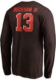 Odell Beckham Jr Cleveland Browns Brown Name And Number Long Sleeve Player T Shirt