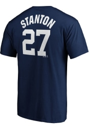 Giancarlo Stanton New York Yankees Navy Blue Name and Number Short Sleeve Player T Shirt