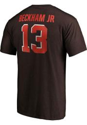 Odell Beckham Jr Cleveland Browns Brown Player Icon Short Sleeve Player T Shirt