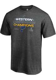 St Louis Blues Charcoal 2019 Locker Room Short Sleeve T Shirt
