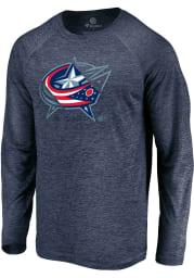 Columbus Blue Jackets Navy Blue Vital To Success Long Sleeve T-Shirt