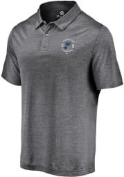 St Louis Blues Mens Grey Line Brawl Short Sleeve Polo