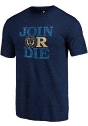 Philadelphia Union Navy Blue Join Or Die Short Sleeve Fashion T Shirt