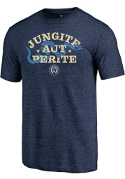 Philadelphia Union Navy Blue Jungite Aut Perite Short Sleeve Fashion T Shirt