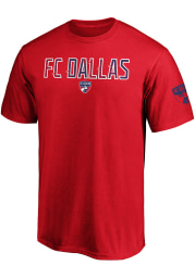 FC Dallas Red Iconic Cotton Ombre Short Sleeve T Shirt