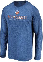 FC Cincinnati Blue Striated Baseline Long Sleeve T-Shirt