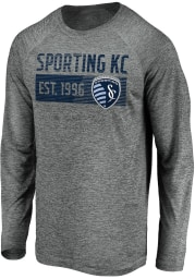 Sporting Kansas City Grey Striated Stack Fade Long Sleeve T-Shirt