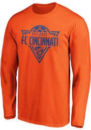FC Cincinnati Orange Cotton Phalanx Long Sleeve T Shirt