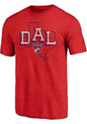 FC Dallas Red Tri State Short Sleeve Fashion T Shirt