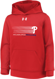 Under Armour Philadelphia Phillies Youth Red Long Sleeve Hoodie