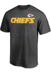 Majestic Kansas City Chiefs Grey Double Down Short Sleeve T Shirt