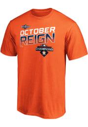 Majestic Houston Astros Orange Locker Room Short Sleeve T Shirt