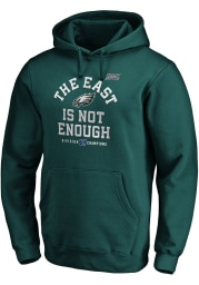 Philadelphia Eagles Mens Midnight Green 2019 NFC East Champions Cover Two Long Sleeve Hoodie