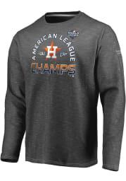 Houston Astros Charcoal 2019 AL Champs Champion LR Long Sleeve T Shirt