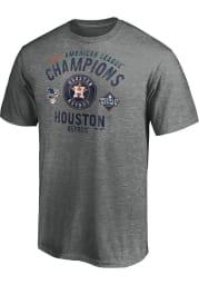 Houston Astros Grey 2019 AL Champs Breaking Ball Short Sleeve Fashion T Shirt