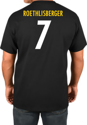 Ben Roethlisberger Pittsburgh Steelers Black Player Short Sleeve Player T Shirt