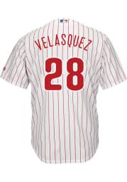 Vince Velasquez Philadelphia Phillies Mens Replica Cool Base Jersey - White
