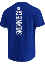 Ben Simmons Philadelphia 76ers Blue Backer Short Sleeve Player T Shirt
