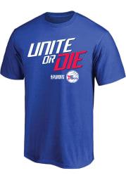 Philadelphia 76ers Blue Tip Off Short Sleeve T Shirt