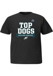 Philadelphia Eagles Youth Black Top Dog 2018 Super Bowl Champions Short Sleeve T-Shirt