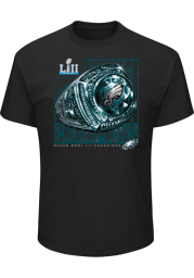 Philadelphia Eagles Black SB LII Celebration Short Sleeve T Shirt
