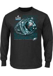 Philadelphia Eagles Black SB LII Celebration Long Sleeve T Shirt