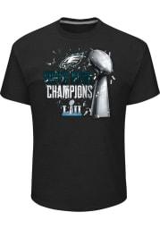Majestic Philadelphia Eagles Black SB LII Lombardi Short Sleeve T Shirt