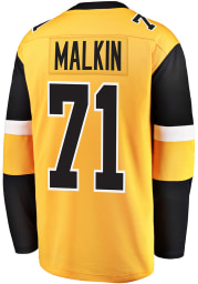 Evgeni Malkin Pittsburgh Penguins Mens Gold Breakaway Alternate Hockey Jersey