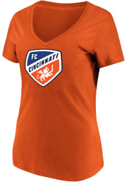 FC Cincinnati Womens Orange Primary Logo Short Sleeve T-Shirt