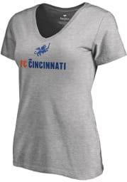 FC Cincinnati Womens Grey Victory Arch Short Sleeve T-Shirt
