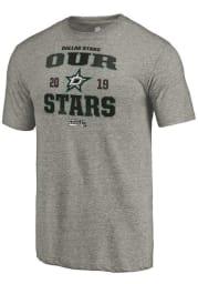 Dallas Stars Grey Penalty Shot Short Sleeve Fashion T Shirt