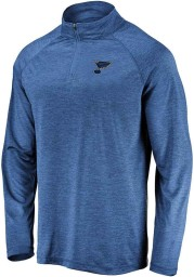 St Louis Blues Mens Blue Contenders Welcome Long Sleeve 1/4 Zip Pullover