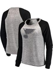 St Louis Blues Womens Grey Cozy Plush Crew Sweatshirt